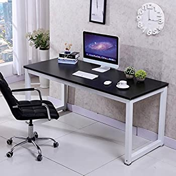 popamazing compact corner computer desk pc laptop desktop study writing table workstation for home office black