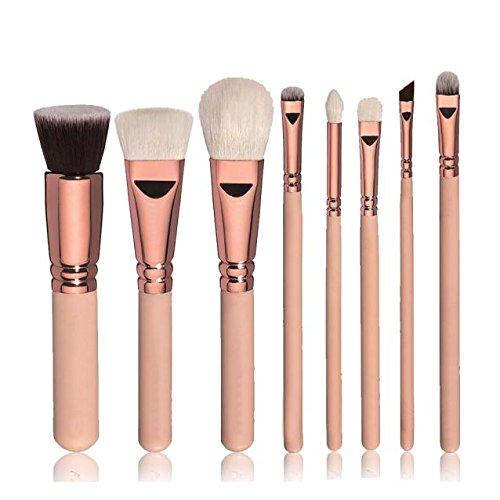 Pinceaux de maquillage, Sayue 8pcs maquillage pinceaux cosmétiques mis en poudre fondation ombre à paupières brosse à lèvres outil, rose