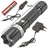 J GO SWAT Multifunction Rechargeable LED 50W Flashlight Torch with LUXEON 3 Watt