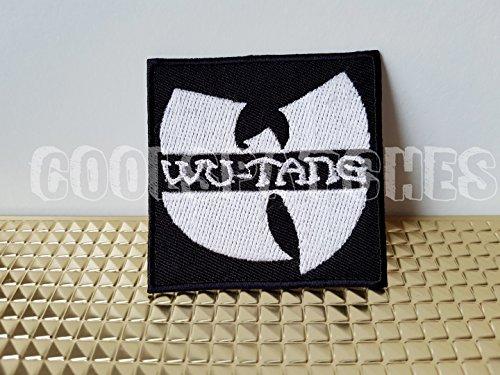 Band-logo Gestickt Hat (Wu Tang Clan Patch   Musik Band weiß Logo   Hohe Qualität   Eisen auf Sew auf bestickt Patch   Eisen Buttons für Kleidung   Größe: 7,5cm x 7,5cm)