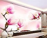 Mbwlkj 3D Tapete Wohnzimmer Wandbilder Tapete Moderne Magnolie Fototapete-150cmx100cm