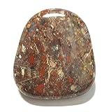 KRIO® - Bolotie aus BrokenJasper/Jaspis rot an 8 fach geflochtener Schmuckkordel Ø 4 mm ca 98 cm lang