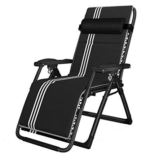 SjYsXm-Recliners chair Klappstuhl Sommer Siesta Lounge Stuhl Büro Portable Beach Chair Lounge Stuhl Schwangere Stuhl Siesta Stuhl Schwarz und Weiß (Beach-chair-position 4)