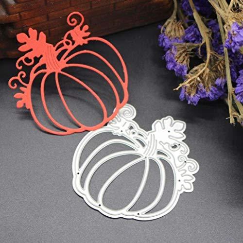 Ogquaton Happy Halloween DIY Handwerk Metall Stanzformen Schablonen Scrapbooking Prägung G: 61,5x65,8mm Langlebig und praktisch