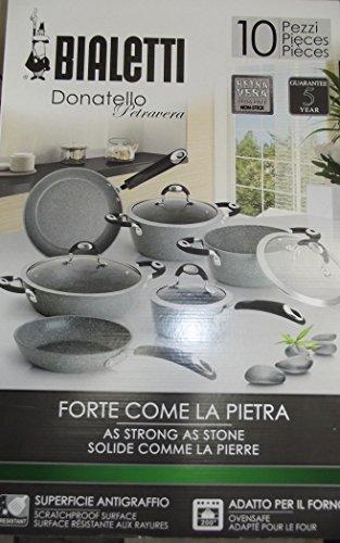 Bialetti Batteria di pentole Donatello Petravera set 10 pezzi