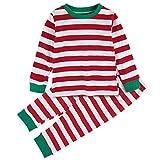 Mombebe Pigiama Bambino Natale Inverno Abbigliamento Set (Rosso, 3 Anni)