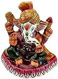 Aapno Rajasthan Handpainted Enamelled Metal Ganapati (8.89 cm, CMC0909)