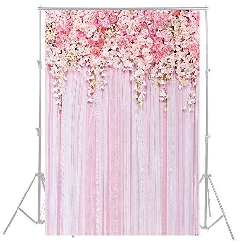 HuaYi Fotografie Hintergrund 150x 220cm BLUMEN Kulissen Professional Photo Hintergrund Fotograf Studio Requisiten Floral Wall Hochzeit Hintergrund