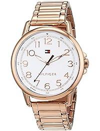 Reloj analógico para mujer Tommy Hilfiger 1781657, mecanismo de cuarzo, diseño clásico, correa de oro rosa.