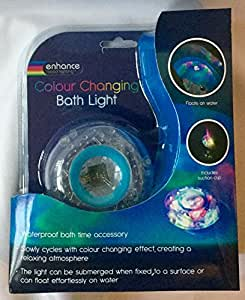 Bain de lumière lumière avec ventouse & flotte sur l'eau changeante de couleur