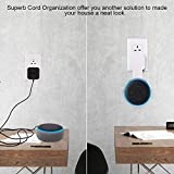 Sonomo Wall Mount Holder Hanger for Dot 3rd Generation, Space-Saving without Messy Wires or Screws, Compact Socket Stand Case Plug in Kitchens, Bathroom and Bedroom - White