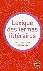 Lexique des termes littéraires de Michel Jarrety