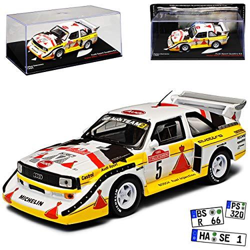 Ixo A-U-D-I Sport Quattro E2 Rallye Sanremo 1985 Röhrl Geistdörfer 1/43 Modell Auto