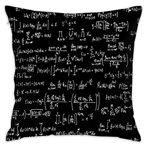 """Fun Life Art Mathe-Anmerkungen über schwarzen kleinen Kissenbezug 18\""""x 18\"""" Diagramm-Kissenbezug-Quadrat-Wurfs-Fall-Kissen für das Sofa dekorativ"""