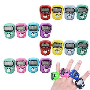 stonges 16zurücksetzbar 5Digit LCD elektronische Zähler Finger Hand Tally (unterschiedliche Farbe)