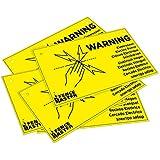 Eider Sparangebot-5 Stück Warnschild Vorsicht Elektrozaun 5, Gelb