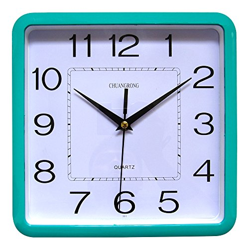 Wall Clock, chuang rong Radio Controlled non Ticking Silent Sweeping Secondi quarzo, ABS, verde, 301