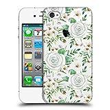 Head Case Designs Offizielle Julia Badeeva Weisse Rosen 1 Gemischte Muster 4 Ruckseite Hülle für iPhone 4 / iPhone 4S