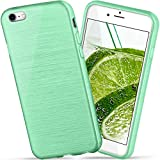 moex Apple iPhone 7/8   Hülle Silikon Grün Brushed Back-Cover TPU Schutzhülle Ultra-Slim Handyhülle für iPhone 7/8 Case Dünn Silikonhülle Rückseite Tasche