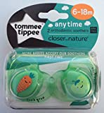 Tommee Tippee Closer To Nature: 2 x Schnuller 6-18m (Karotte / Apfel)