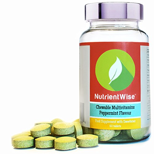 NUTRIENT WISE Chewable Multivitamins & Multi Minerals Tablets For Both Men & Women - Healthy Vitamins including D, B, C. Contains Green Coffee Bean & Green Tea - Peppermint Flavour Test