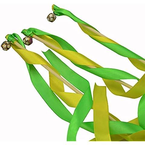 hangnuo paquete de 30cinta de encaje de seda fiesta de cumpleaños de Navidad con campanas de boda serpentinas varitas mágicas hadas