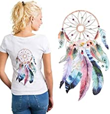 3D Dream Catcher Washable Iron-on Transfer Clothes T-shirt Patch Stickers DIY Decor