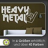 KIWISTAR Heavy Metal Hand Hörner - Hardrock Rock Zeichen Wandtattoo in 6 Größen - Wandaufkleber Wall Sticker