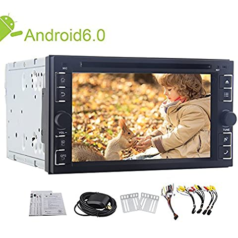 Caméra de recul sans fil + EinCar New Android 6.0 Lecteur Quad Core DVD de voiture 6.2 « » stéréo de voiture écran tactile au tableau de bord de navigation GPS Unité principale Récepteur radio Bluetooth Support WiFi OBD2 Miroir lien