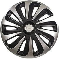 Michelin 009122 Boîte de 4 Enjoliveurs NVS 3D Noir Edition, 15 Pouces