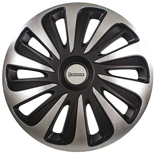 Michelin 009124 Boîte de 4 Enjoliveurs NVS 3D Black Edition, 17 Pouces