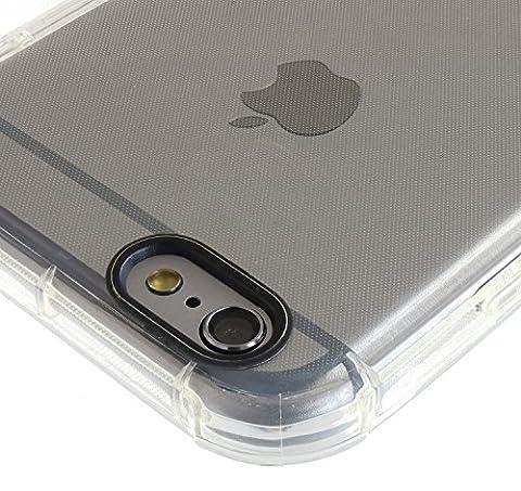 3Q iPhone 6 Hülle iPhone 6S Hülle Silikon Transparent mit extra Air-Cushion Schutz Erweiterte Dämpfung an 4 Ecken gegen Stöße Handy-hülle Handy-Tasche durchsichtig Schutz-Hülle Case Cover Etui Schweizer Premium Design und