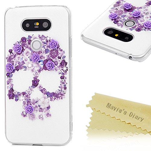 maviss-diary-lg-g5-hulle-hartschale-pc-cover-lila-blume-schadel-schutzhulle-bling-case-luxury-bling-