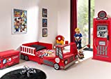 Vipack TODDLER FIRE TRUCK 70x140CM ROUGE MDF, 70 x 140 centimeters