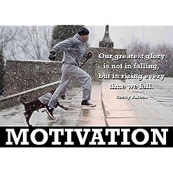Carteles con frases motivadoras en inglés sacadas de la película de Rocky. Como ya hemos dicho, ¿quién no conoce al grande de Rocky Balboa?