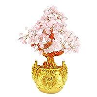 Baoblaze Crystal Money Tree Bonsai for Wealth Feng Shui Wedding Home Office Birthday Gift 7