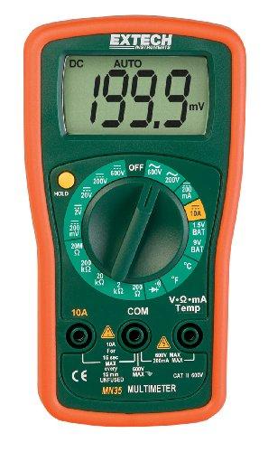 Extech Multimeter (Extech Digitales Mini-Multimeter, 1 Stück, MN35)