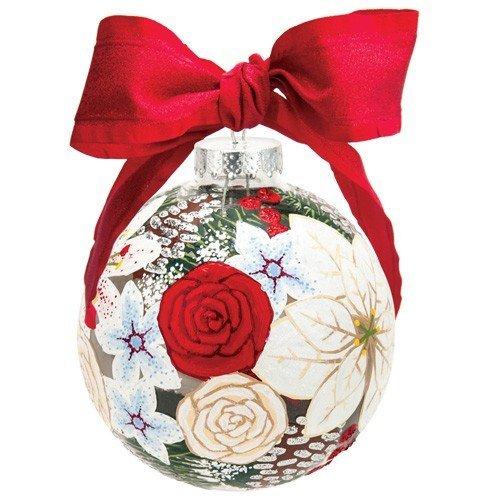Santa Barbara Design Studio Lolita Holiday Moments Glass Ball Ornament, Holiday Bouquet Too by Santa Barbara Design Studio -