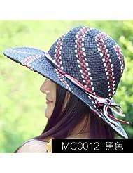 Sombrero para el sol Hembra de verano versi¨®n coreana de gran sombrero de paja widebrimmed Tapa de protecci¨®n solar exterior Se?oras Playa sombreros UV
