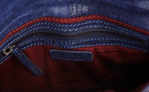 Loxwood - Pochette Lana Imprimé Serpent, Pochette Donna Blu (Blau - Bleu (Drkblue))