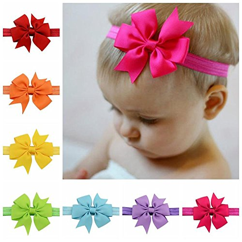 20pcs Baby Girl 4.5'' Boutique Hair Bows Elastic Fashion hair bow For...