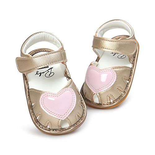 Babyschuhe Weichen Sohle Leder Schuhe Infant Mädchen Lauflernschuhe Krippeschuhe 0-18 Monate Gold