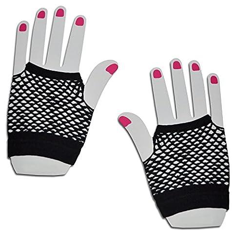 Courte en résille à la main gants Party Fancy robe tutu (Noir)
