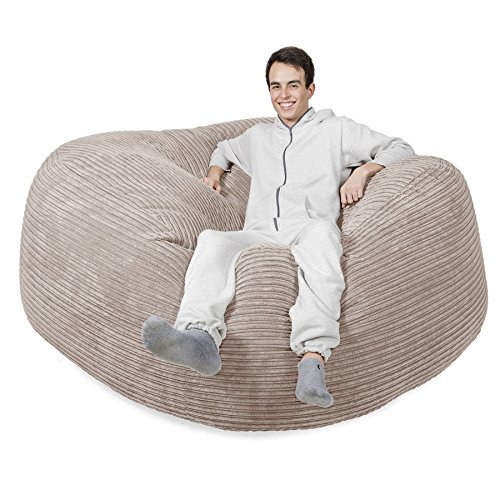 Mega-Mammoth Klassischer Cord Sitzsack Creme