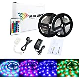 ALED LIGHT®2*5M(10M in Total) RGB 3528 600 Led Strips Lighting Full Kit With 24Key IR Remote +6A AC UK Power Supply For Home lighting and Kitchen (Non-Waterproof)