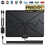 TV Antenna Interna - Nuovo 2018 TV con HD Digital TV Antenna Kit - Miglior 80 Miglia a Lungo Raggio ad Alta Definizione con Amplificatore HDTV Signal Booster per Antenna Interna- Amplificato 16ft Cavo Coassiale