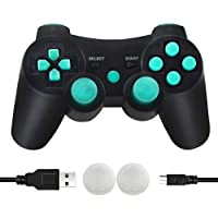 CFORWARD PS3 Controller Wireless, PS3 Joystick, Play 3 Remote Double Vibration 6-Axis Joypad Compatible with Playstation…