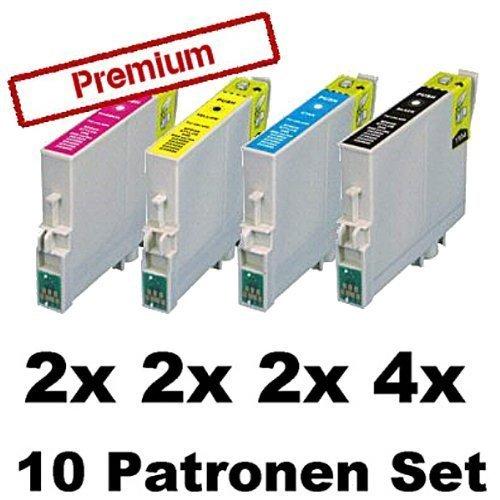10x Kompatible Tintenpatronen für Epson Stylus Photo R240 R245 RX400 RX420 RX425...