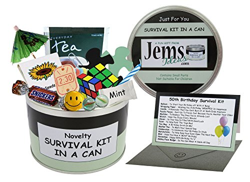 Novelty 50th Birthday Survival Kit in a Can