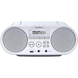 Sony ZSP-S50W Lecteur CD/MP3, USB, Radio - Blanc